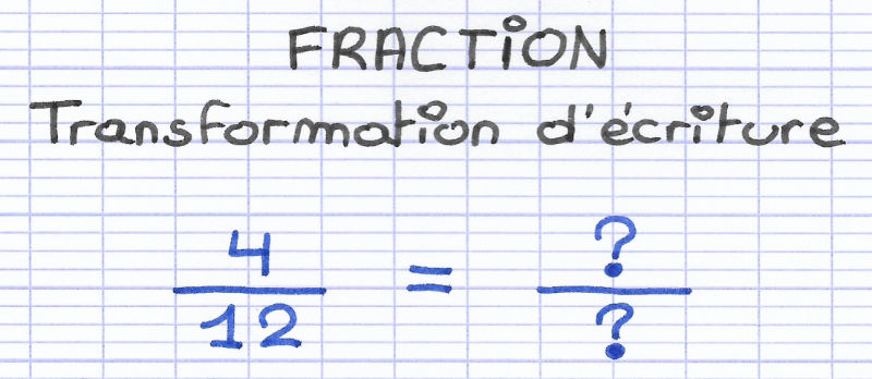 Comment transformer l'écriture d'une fraction ?