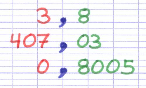 Tableau De Numeration Pour Nombres Decimaux