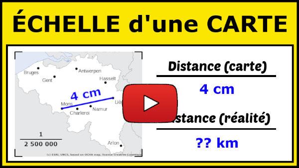 calculer une distance sur une carte Utiliser l'Échelle d'une Carte pour Calculer des Distances