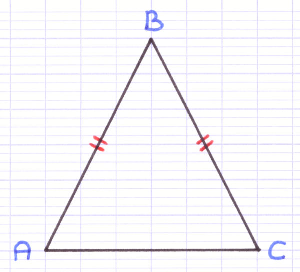 Quelle est la description de ce triangle isocèle ?